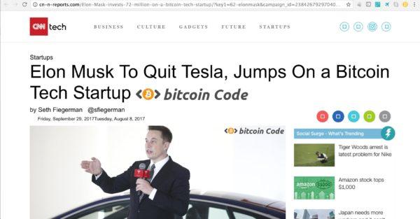 Bitcoin Code Elon Musk
