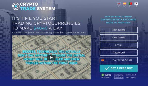 Crypto Trader System Opinioni e Recensioni, Truffa o Funziona?