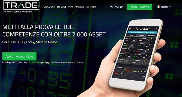 Trade.com recensione completa: regolamentazione CySEC, trading CFD e leva finanziaria