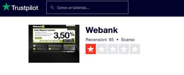 Webank Trustpilot