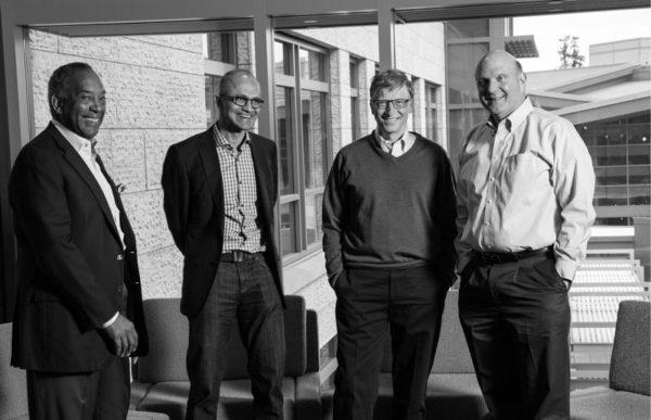 Satya Nadella Bill Gates Steve Ballmer