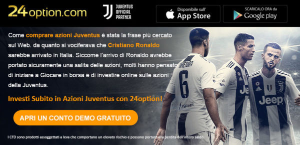 Investire in Azioni Juventus con 24Option