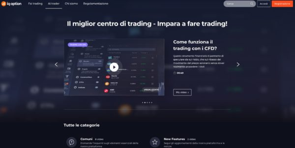IQ Option Centro di Trading