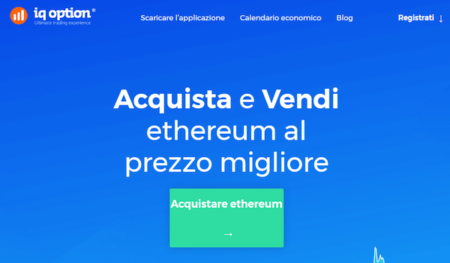 Acquista e vendi Ethereum IQ Option