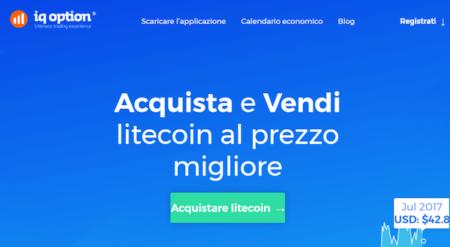 Acquista e vendi Litecoin IQ Option