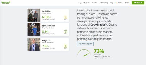 Il Social Investment Network eToro