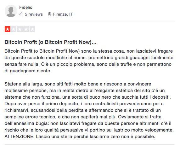 Bitcoin Profit Recensioni