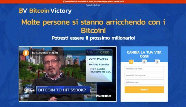Bitcoin Victory Truffa o Funziona?