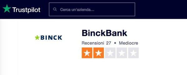 BinckBank Trading Trustpilot