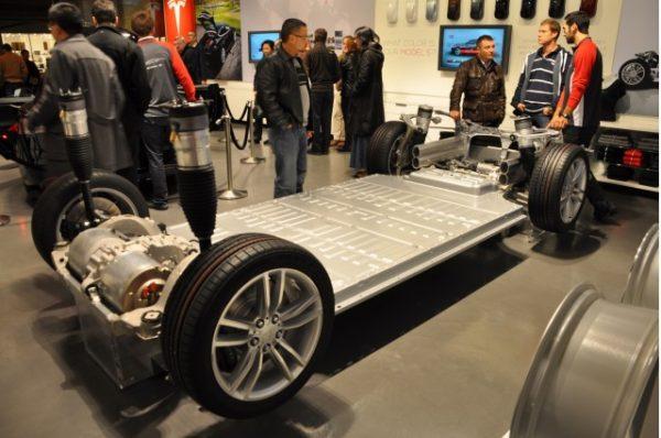 Le batterie al Litio della Tesla Model S