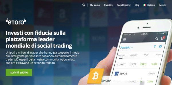 Piattaforma trading online eToro