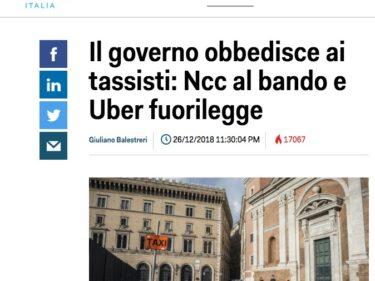 Uber Italia Illegale