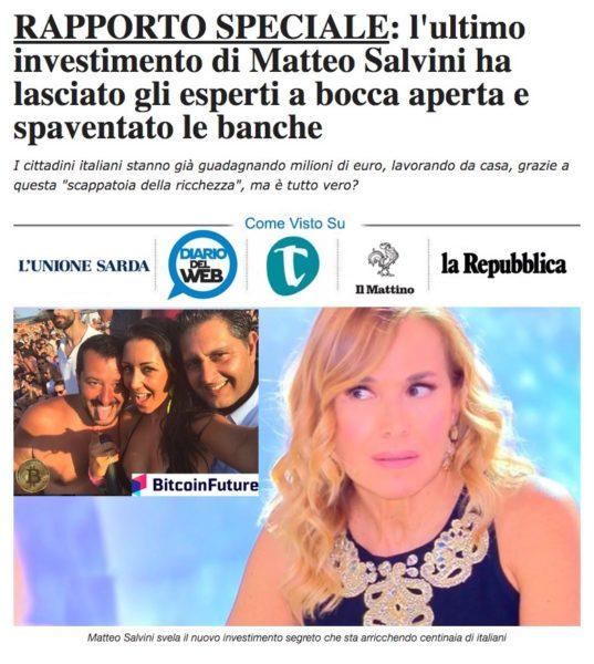 Bitcoin Future Matteo Salvini Pomeriggio Cinque
