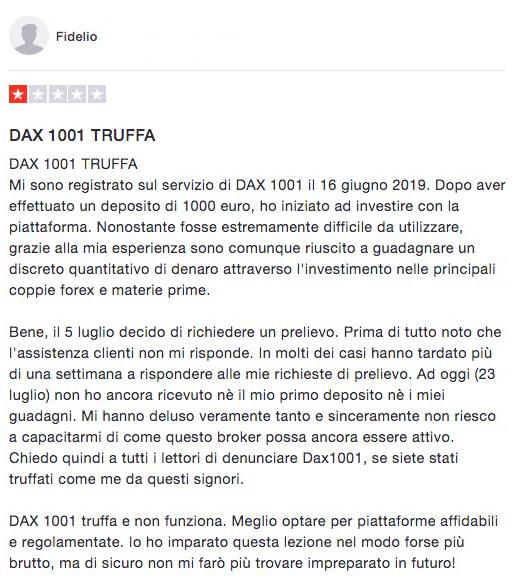 Dax1001 Trustpilot Recensione