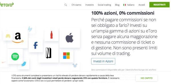 Speculare in Borsa con eToro