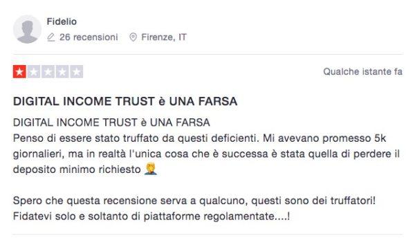 Digital Income Trust Opinioni e Recensioni Trustpilot