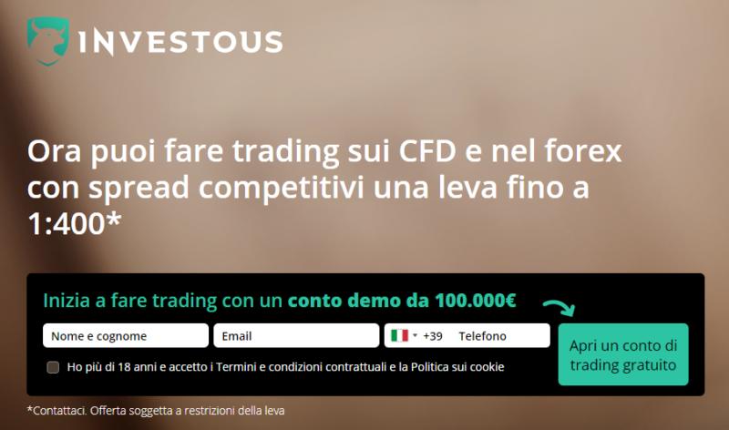 Apri Conto di Trading Online su Investous