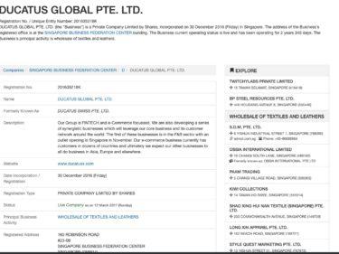 DUCATUS GLOBAL PTE. LTD.