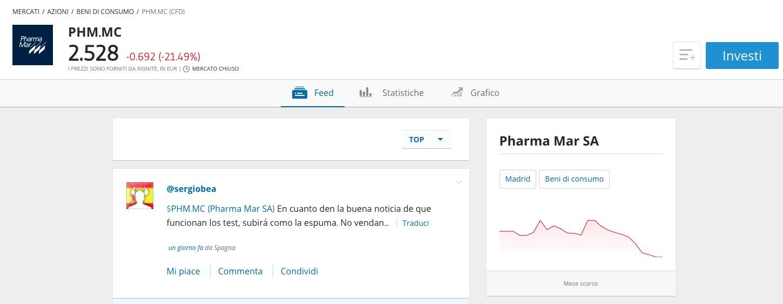 Comprare Azioni Pharma Mar su eToro