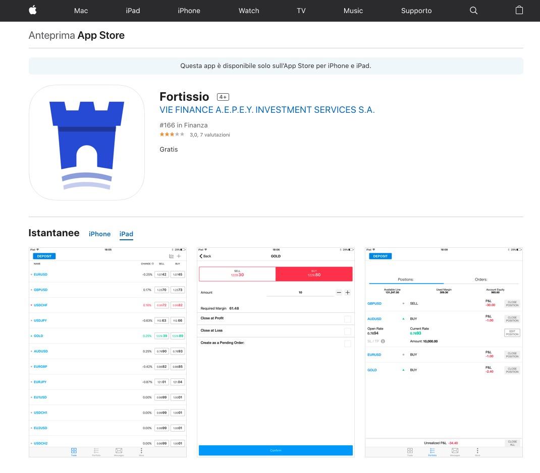 Fortissio App Store