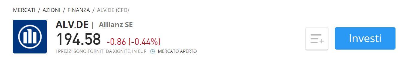 Comprare azioni Allianz CFD eToro