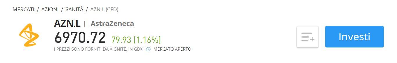 Comprare azioni AstraZeneca CFD eToro