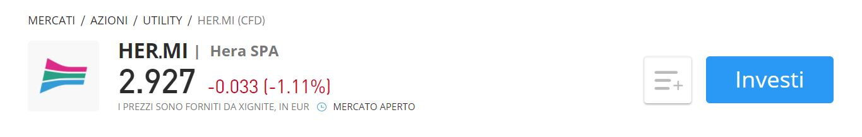 Comprare azioni Hera CFD eToro