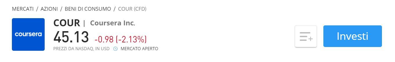 CFD Coursera su eToro