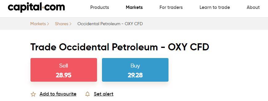 Occidental Petroleum CFD su Capital