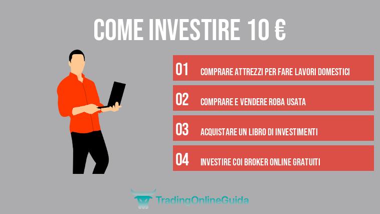 come investire 10 euro online come scambiare giorno criptovaluta